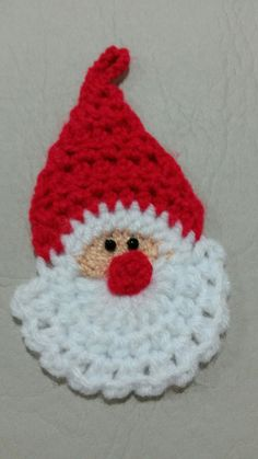 Crochet Santa Claus Christmas decorations Hanging Christmas ornaments set of 20 PCS Cotton Custom Color Crochet Ornament Patterns, Crochet Applique Patterns Free, Crochet Ornaments, Christmas Crochet Patterns, Holiday Crochet, Christmas Knitting, Crochet Crafts, Yarn Crafts, Crochet Projects
