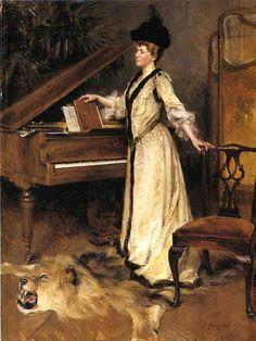 Portrait of Mrs. Frederick Sharon  Julian Story