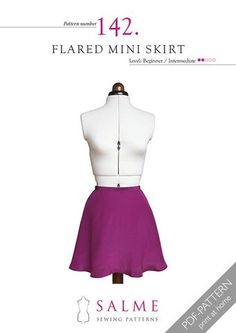This short skirt is cut in a half circle shape which gives it a lovely...