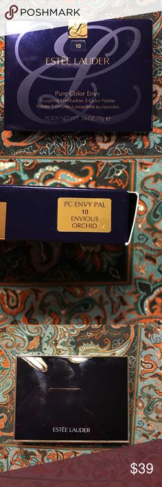 Estee Lauder eyeshadow New in box Envious orchid .5 color  Pearl/pearl/reflect/pearl/matte Pure color envy  .24oz /7g Estee Lauder Makeup Eyeshadow