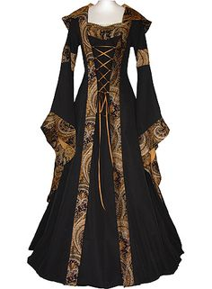 Medieval inspired. for the evil mother of the suitor.