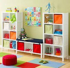 kids bedroom idea for shelving