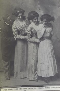 John Merrick, one of the original founders of the North Carolina Mutual Life Insurance Company, with his daughters, Geneva, Mabel, and Martha, c.1909.