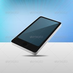 Realistic 3D View Modern Mobile Phone. Vector illustration
