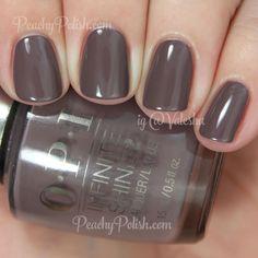 OPI Set In Stone | Infinite Shine Collection | Peachy Polish - OOOOH #dark taupe/grey