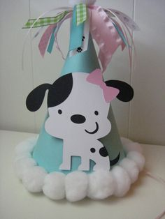 Puppy Party Hat by PinkPaperCottage on Etsy, $5.00
