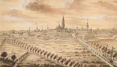 Een van de merkwaardigste gezichten op de stad Breda werd vervaardigd door F.B. Werner rond 1600. Hij tekende de stad vanuit het noorden. Een zeilvrachtboot vaart de Mark op in de richting van Breda. Opmerkelijk is dat deze rivier als een kanaal is weergegeven. De prent geeft een goed beeld van de vestingwerken rondom de stad.