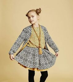Sensible Kids Clothes | When the skirt length is over the girls knees it lets her move without worring for stepping on it. It's important that kids can move freely because the body movement is essential to the kids' development in all aspects, physical, emotional and intelectual  #sensiblekidsclothes #wearandlearn #respectedgrowth #kidswear #babywear #kidsclothes #babyclothes