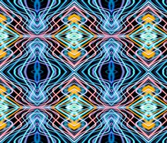 Neon_Pinstripes2_A_X fabric by k_shaynejacobson on Spoonflower - custom fabric