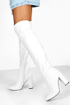 White Gogo Boots, White Thigh High Boots, Knee High Boots Dress, Dress With Boots, Over The Knee Boots, Cute Group Halloween Costumes, Halloween Outfits, Halloween Inspo, Halloween 2020