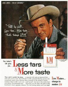 Bad Celebrity Endorsement Ads | Keywords: man, male, star, actor, TV, CBS-TV, James Arness