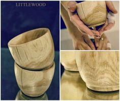 Toczone miski drewniane www.littlewood.pl