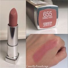 "Maybelline Color Sensational Creamy Mattes in"" Daringly Nude""."