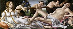 Venus and Mars, 1483, tempera, Sandro Botticelli