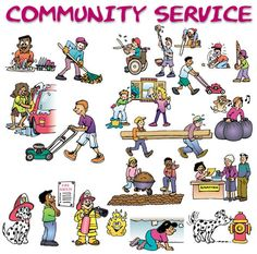 This is a representation of how many ways you can perform community service. Since it is such a broad term, there is no wrong way to serve your community as long as you are helping some one. 4 H Club, International Scholarships, Community Service Projects, Challenges And Opportunities, Project Board, Project Ideas, Service Learning, Volunteer Work, College Admission