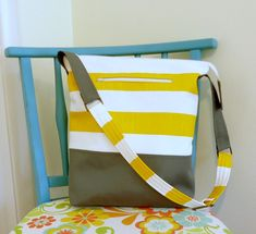 Hey, I found this really awesome Etsy listing at https://www.etsy.com/listing/198215118/vegan-tote-bag-in-yellow-gray-canvas