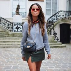 @sincerelyjules #style #street #styling #stylish #mirror #sunglasses #spring #skirt #fashion #fashionable #streetstyle #streetfashion #hair #hairstyle