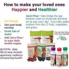 Juice Plus  go to my websit at for more info or to contact me: www.barbjp.com