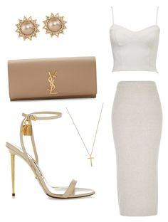 """""""Untitled #15"""" by lluviagb on Polyvore featuring River Island, Tom Ford, Yves Saint Laurent, Carolee and Gucci"""