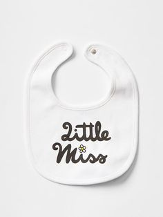 Mr. Men™ Little Miss™ + babyGap printed bib - A limited edition collection introducing new characters inspired by our founders, Mr. Gap and Little Miss Gap, and their passion to spread peace, love, jeans, and more.