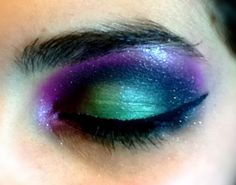 Having some fun with crazy eye makeup with @Jalen Buchalter