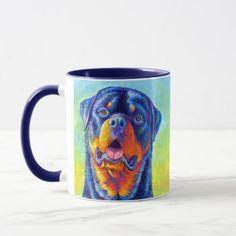 Colorful Rainbow Rottweiler Dogs Mug rottweiler pitbull mix puppies, lab rottweiler mix puppies, jesus the rottweiler #rottweilerlover #rottweilersofinsta #rottweilerofinsta, dried orange slices, yule decorations, scandinavian christmas Rottweiler Quotes, Rottweiler Mix Puppies, Rottweiler Funny, Yule Decorations, Ancient Romans, Scandinavian Christmas, Moma, Favorite Color, Rainbow