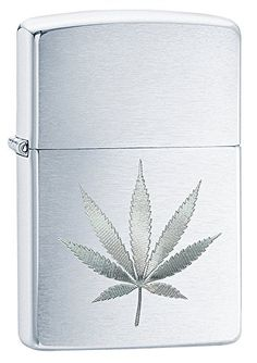 Zippo Brushed Chrome Leaf with Pipe Insert Pocket Lighter #weed#zippo#marijuana#marijuanaleaf