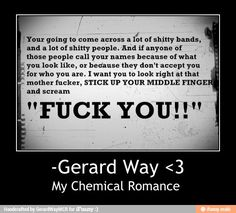 My Chemical Romance / iFunny :) I can't help but smile when I read this