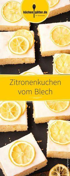 Ein Kuchen zum Verlieben! Saftiger Zitronenkuchen vom Blech, schnell und einfach zuzubereiten.