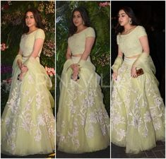 Here is an amalgamation of all the looks spotted at Virat Kohli and Anushka Sharma's Mumbai Reception Baby Girl Party Dresses, Party Wear Dresses, Bollywood Dress, Bollywood Fashion, Anushka Sharma, Priyanka Chopra, Indian Wedding Outfits, Indian Outfits, Frock Fashion