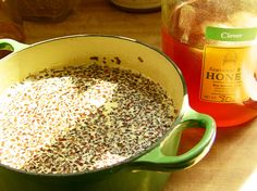 Making Herb infused honey