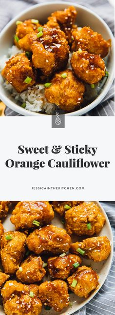 recipes healthy eating These Sweet and Sticky Orange Cauliflower Bites taste just like your favourite C. These Sweet and Sticky Orange Cauliflower Bites taste just like your favourite Chinese takeout order! They are deliciously battered and are co Tasty Vegetarian Recipes, Veggie Recipes, Whole Food Recipes, Cooking Recipes, Healthy Recipes, Vegan Recipes Chinese, Healthy Tasty Food, Chinese Food Vegetarian, Dinner Healthy