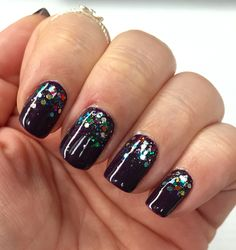 Glitter gradient mani