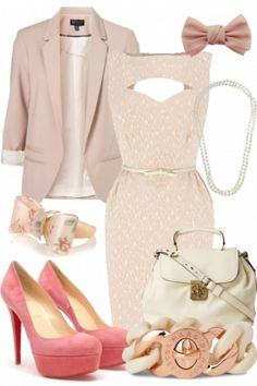 Gorgeous girlie glam #style #fashion #outfit