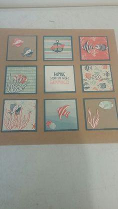 Framed art using seaside shore Stampin UP stamp set. Facebook page Creative princesses. careyne06.blogspot.com