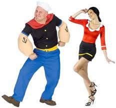 Olive & Popeye - Many couples love to go to Halloween parties dressed as a famous couple and there are certainly many famous ones to choose from.