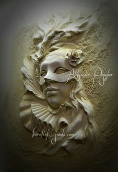 Художественные работы. барельеф. Plaster Sculpture, Plaster Art, Sculpture Painting, Plaster Walls, Wall Sculptures, Gas Mask Art, Wooden Wall Art, Mural Art, Street Art