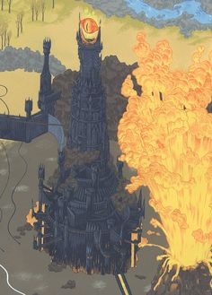 Andrew DeGraff - Gallery 1988 - Lord of the Rings Maps