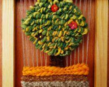 Woven Tree Wall Hanging / decorative tree fabric