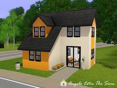 Mini casa / Tiny House 05 - Contemporary - The Sims 3 Angela Ester The Sims: Minicasa 05 - The Sims 3 Sims 3 Houses Plans, Sims 3 Houses Ideas, Tiny House Plans, Sims Ideas, Sims 4 Houses Layout, Casas The Sims 3, Sims3 House, Casas The Sims Freeplay, Die Sims