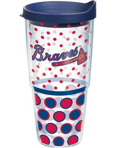 MLB® | Atlanta Braves | Polka Dot Wrap with Lid | Tumblers, Mugs, Cups | Tervis