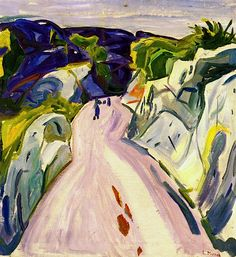 Road near Kragerø Edvard Munch - 1910-1911