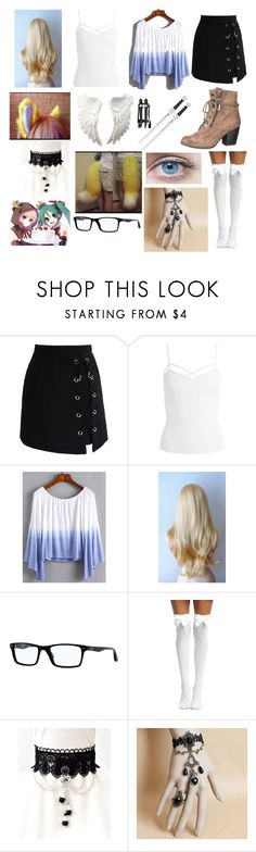 """""""Happy Birthday Cherry-Face!"""" by fashion-anime-animals-reading ❤ liked on Polyvore featuring Chicwish, Sans Souci, Ray-Ban, Hot Topic and maurices"""
