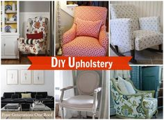 Our #diy upholstery projects + beautiful upholstery inspiration pieces via Jessica @ fourgenerationsoneroof.com