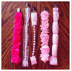 DIY girly pacifier clips