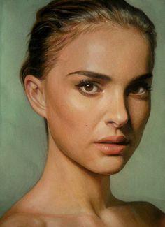 A great pastel pencil portrait of Natalie Portman by ~Lizapoly