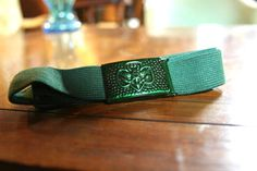 From my first estate! Vintage 1960's girl scout belt.     #vintage #girlscouts #girlscoutsofamerica #pantonegreen #accessories #clothing #belts #springoutfits #kitsch #vintageclothing #rockabilly #uniform #punk #eagle