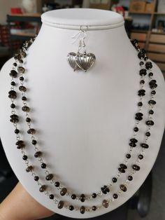 Náhrdelník ze záhnědy a kuliček granátu. Bez zapínání. Délka náhrdelníku - 132 cm.  #zahneda #nahrdelnik #fashion