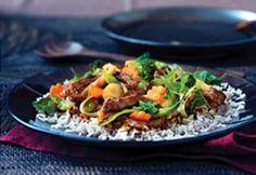 Beef Teriyaki Stir Fry Recipe from The Healthy Kitchen Roast Beef Recipes, Stir Fry Recipes, Side Recipes, New Recipes, Dinner Recipes, Cooking Recipes, Favorite Recipes, Healthy Recipes, Skillet Recipes