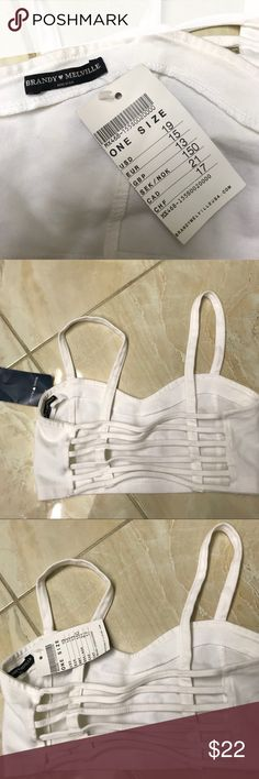 Brandy Melville Top. One size fit Brand new. Brandy Melville Tops Crop Tops
